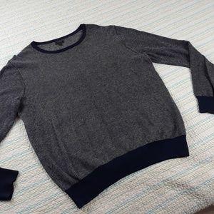 J. Crew Sweaters - SOLD J Crew L Navy Blue Cotton Cashmere Sweater